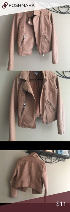 Charlotte Russe Pleather Jacket Super cute worn once closet cleaning everything must go size medium runs small Jackets & Coats