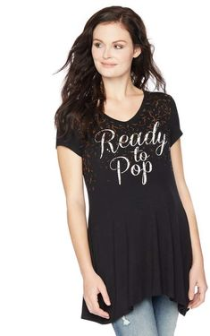 e166ba0c2542c Motherhood Maternity Ready To Pop Maternity Tee  ad  maternitystyle  Maternity Tees