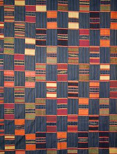 Ewe Kente Cloth from Ghana, mid 20th c.