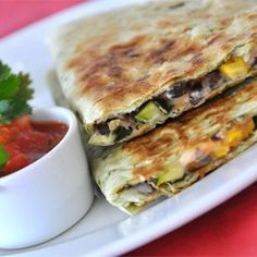 "Black Bean and Corn Quesadillas | ""Yummy! This easy and delicious recipe is the perfect level of spice and flavor."""