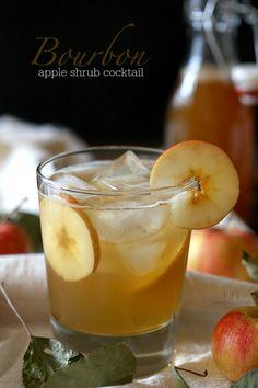 Bourbon Apple Shrub Cocktail by Nutmeg Nanny
