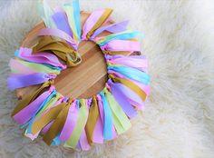 WOW Perfect Pastel birthday banner/ highchair banner/ wall garland/ birthday garland.