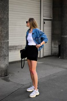 How to rock two tone denim - Katiquette