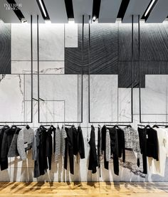 Black and white stone large patchwork David Adjaye, Proenza Schouler New York boutique