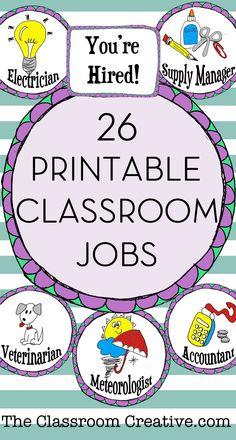 Classroom Jobs (Edit
