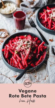 Rote Bete Pasta (from Hell!) Unsere Rote Bete Pasta (from Hell) steht in maximal 30 Minuten a Healthy Pasta Recipes, Healthy Pastas, Veggie Recipes, Easy Recipes, Salad Recipes, Pasteles Halloween, Eat This, Food Tags, Winter Vegetables