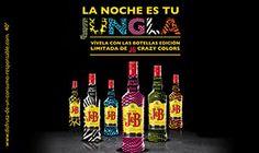 La noche es tu jungla... en Flaherty's. Vívela con las botellas edición limitada de J Crazy Colors: azul pantera, tigre naranja, blanco y negro de cebra, la jirafa amarilla, cocodrilo verde y serpiente de color rosa.