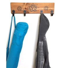 A personal favorite from my Etsy shop https://www.etsy.com/listing/492777570/yoga-coat-hooks-handmade-yoga-mat-holder