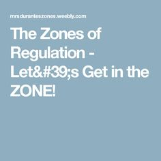 The Zones of Regulat