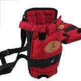 Portable Pet Travel Carrier Hund Rucksack Haustier Taschen Hund Pack Tasche Doppel-Schulter Prothorax Taschen M Oberweite für Haustiere in 3500g rot