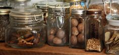 Kitchen Dinning Room, Dried Mushrooms, Larder, Wood Glass, Apothecary, Glass Bottles, Home Kitchens, Pantry, The Best