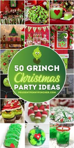 Grinch Christmas Decorations, Christmas Party Ideas For Teens, Grinch Christmas Party, Grinch Party, Christmas Party Decorations, Christmas Activities, Christmas Goodies, Christmas Printables, Holiday Parties