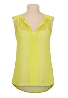 sleeveless chiffon high-low blouse @ maurices