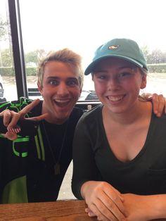 Dalton Rapattoni with a fan today (@LOVE_VIOLIN10)