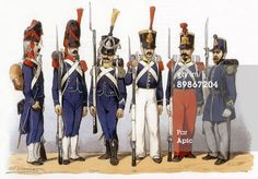 Photo d'actualité : Uniforms of french army Light Infantry 1819th...