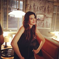 """""""#vintage #onceuponatime #season2 with the #superfun @OfficialmeghanOry #red #setshots"""""""