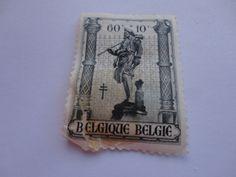 60c + 10c Postage Stamp From Belgique/Belgie.
