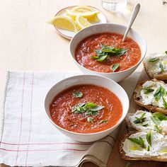 Chilled gazpacho is easy to throw together in a food processor or blender, and an incredibly light and refreshing meal during the hot summer months. Get the recipe.   - WomansDay.com