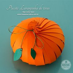 Como fazer um pacote de presente em forma de fruta com papel - presente criativo - laranja - laranjinha- Dicas e passo a passo com fotos - T...