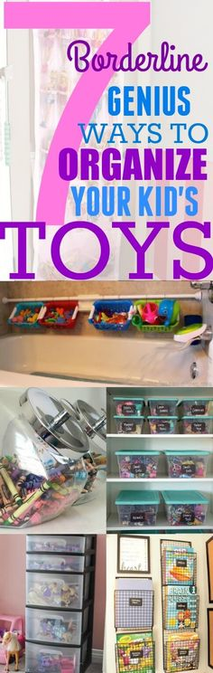 These 7 organization hacks will keep your child's toys neat, and not all over the house. These hacks are super simple to implement in your home.