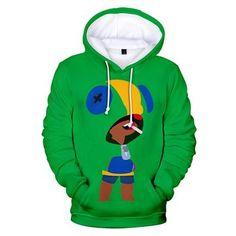 Unisex The Assassin Leon Hoodies Brawl Stars Pullover Print Jacket Sweatshirt Hoodie Sweatshirts, Pullover Shirt, Pullover Sweaters, Graphic Sweatshirt, Sweat Shirt, My Hero Academia Costume, Boys And Girls Clothes, Children Clothes, Print Jacket
