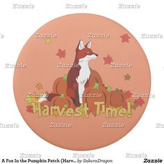 A Fox In the Pumpkin Patch (Harvest Time!) Eraser #fox #foxes #animals #autumn #pumpkin