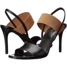 Michael Kors Chantal Runway (Black/Sun Tan Smooth Calf) High Heels (285 BRL) ❤ liked on Polyvore featuring shoes, pumps, black, black shoes, sexy black pumps, black pumps, sexy high heel pumps and michael kors pumps
