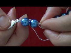 Tutorial: Filo di Perle con nodino veloce e facilissimo. - YouTube