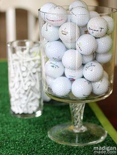 golf ball vase filler decoration idea