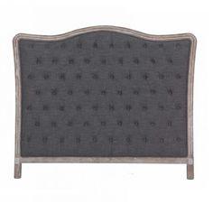 Beautiful grey headboard fabric with wooden frame