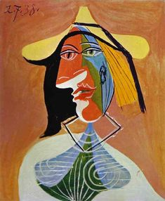 """Pablo Picasso - """"Portrait of a Young Girl"""". 1938"""