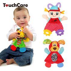 Newborn Cute Cartoon Animal Hand Bells Plush Baby Rattles Infant Playmate Doll Teether Development Kids Toys Gift Christmas Toys