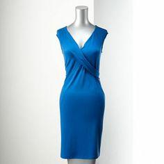 Simply Vera Vera Wang Pieced Dress - Petite