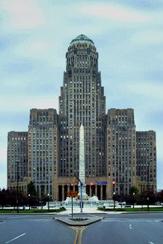 Buffalo City Hall constructed by John W. Cowper was an Art Deco masterpiece. The design was led by John Wade as the Chief Architect. Architecture Design, Amazing Architecture, Vintage Architecture, Historical Architecture, Places Around The World, Around The Worlds, Moda Art Deco, Art Nouveau, Buffalo City