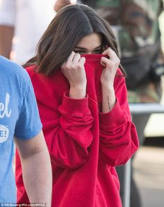 Dua Lipa was festive in red for her Valentine's Day appearance on Jimmy Kimmel LIVE Wednesday night in Hollywood. She performed three songs on the outdoor stage for more than 200 people. Cute Celebrities, Celebs, Dua Lipa Concert, Aesthetic Girl, My Girl, Off The Shoulder, Fashion Outfits, Female, My Style