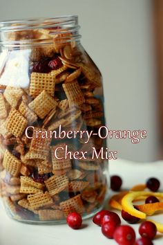 Cooking with Chopin, Living with Elmo: Cranberry-Orange Chex Mix (Gluten-Free)