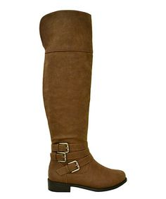 1c0263e4541 Another great find on  zulily! Brown Chloe Over-the-Knee Riding Boot