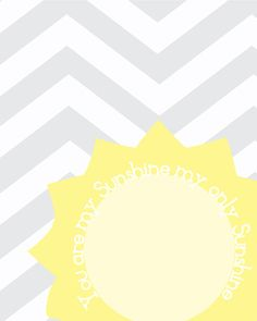 You Are My Sunshine 8x10 Nursery Art Print by YourHappilyEverAfter, $13.00