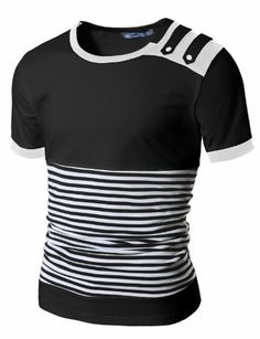 Doublju Mens Unique design T/C Rope T-shirts Mens Clothing Guide, Mens Clothing Styles, Camisa Polo, Mens Polo T Shirts, Mens Kurta Designs, Le Polo, Kids Suits, Kids Clothes Boys, Jeans And Sneakers