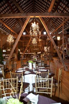 Barn wedding tables