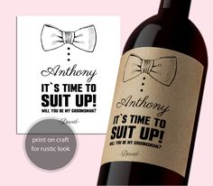 INSTANT DOWNLOAD PDF Template 3,5x4 Editable Wine Label Be my groomsman tag Be my best man calligraphy Printable Wedding Wine Labels Digital by DreamPrintable on Etsy  #wedding #instant #download #printable #image #graphic #digital #reception_sign #PDF #Template #wedding_ceremony #wedding_sign #events_design #wedding_printable #wedding_design #Calligraphy #Sign #events