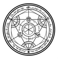 Transmutation Circle by KoalaExe on DeviantArt Alchemy Symbols, Magic Symbols, Anime Tattoos, Body Art Tattoos, Tatoo Books, Tatoo Geek, Kopf Tattoo, Circle Symbol, Eye Symbol