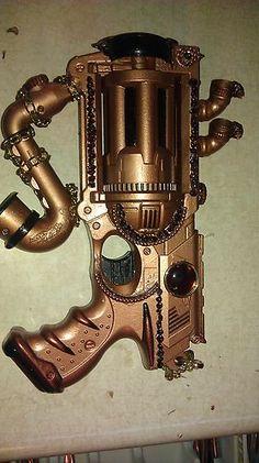 my hand made steam punk gun laced with garnet gems