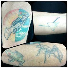 20 años después ¡ estos son algunos de los primeros Tattoos que hecho, hace 20 años. gracias Osvald.  #oldtattoo #20añostatoos