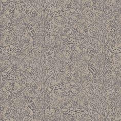 Evas lillasyster Eden, en lustgård med livets träd och en mängd djur, är en förtjusande tapet för mindre och medelstora rum. Genom sina milda färger och mjuka yta ger tapeten en behaglig ombonad känsla.