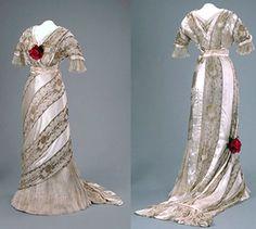 Evening dress, 1912-1914. Canadian Museum of Civilization.