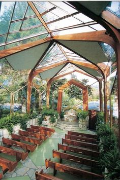 "Wayfarer's Chapel in Palos Verdes, CA -- from ""How to Have an Outdoor Wedding Indoors"" on Weddingbee"