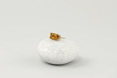Golden Orange Citrine Solitaire Studs – LITTIONARY Timeless Classic, Timeless Fashion, Gift Wrapping Services, Minimalist Earrings, 14 Karat Gold, Earring Backs, Pink Tourmaline, Blush Pink, Orange Color