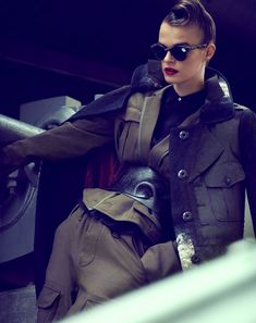 visual optimism; fashion editorials, shows, campaigns & more!: military-inspired womenswear: brogan loftus by james meakin for how to spend it 24th september 2014