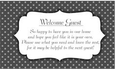 Welcome Guest Basket - Darling Doodles | Darling Doodles